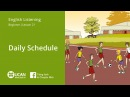 Learn English Listening | Beginner - Lesson 21. Daily Schedule