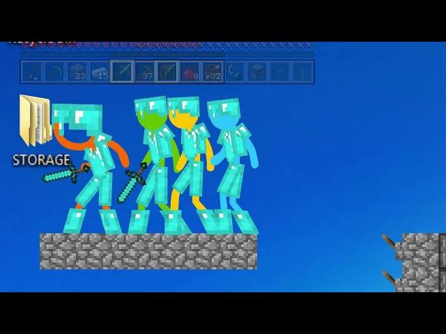 Человечки ПРОТИВ Minecraft Windows7