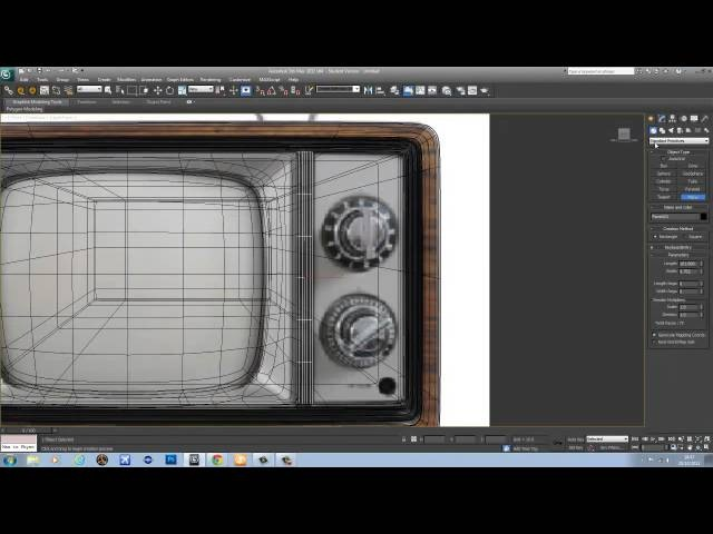 Old TV, HighPoly modeling in 3ds Max