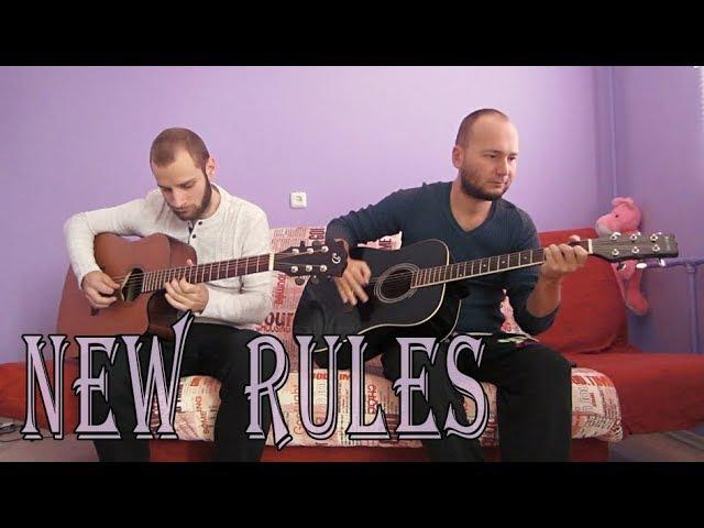 Dua Lipa – New Rules (acoustic guitar cover, tabs)
