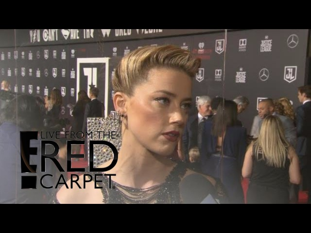 Amber Heard Teases Aquaman at Justice League Premiere | E! Live from the Red Carpet