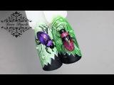 Интересный Жук на Ноготках!!! Дизайн с Северным Пигментом!!!