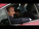 Tour de France Emmanuel Macron arrive