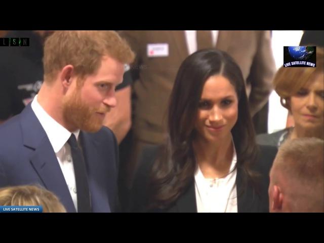 Принц Гарри и Меган Маркл посетили Фонд Эндевор в Дождливом Лондоне.