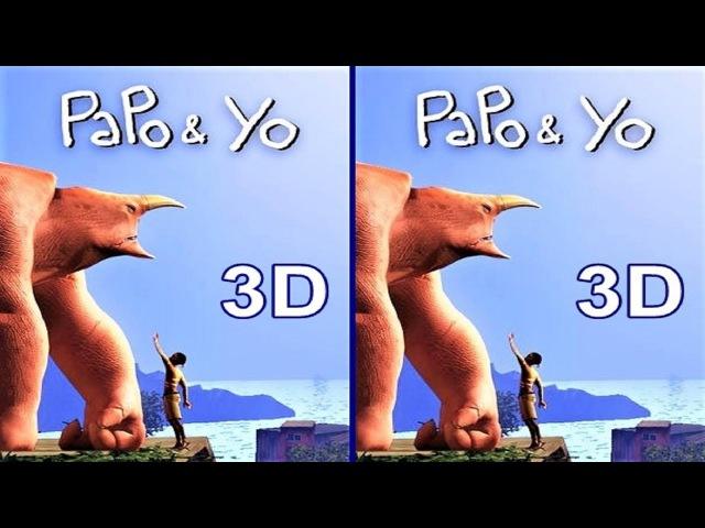 3D TV VR box Papo Yo video Side by Side SBS google cardboard