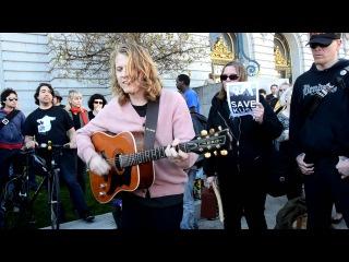 Ty Segall plays Bob Dylan Blues by Syd Barrett at Save KUSF rally at San Francisco City Hall