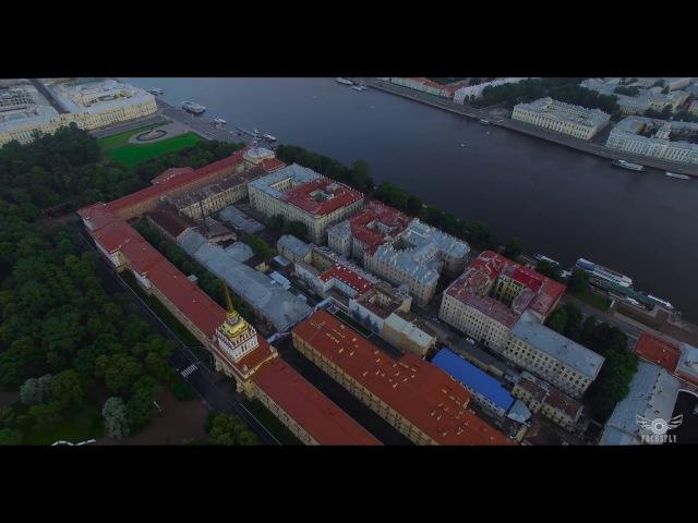 Адмиралтейство Санкт-Петербург Аэросъемка СПб 4K video