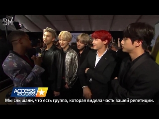 [RUS SUB][20.11.17] BTS for Access Hollywood @ The American Music Awards Red Carpet