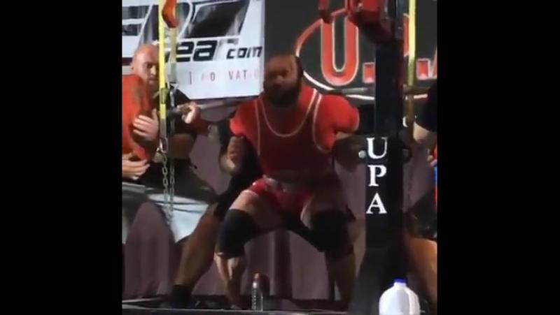 Амит Сапир - присед 375,5 кг (110 кг)