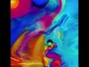 Завораживающе! Это было сделано с использованием краски, масла и жидкого мыла