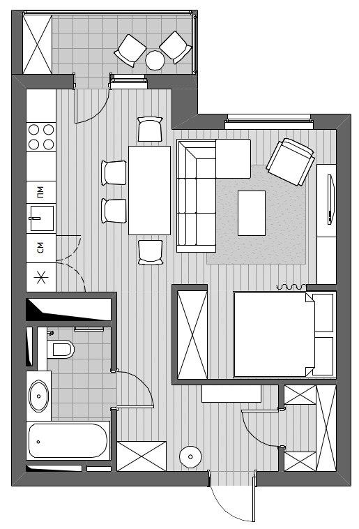 Концепт студии 47 м.