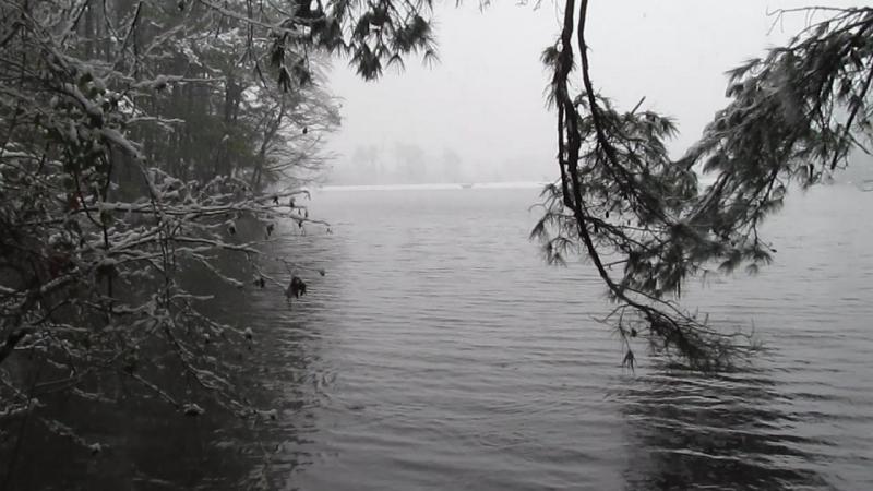 Снегопад в Северной Каролине
