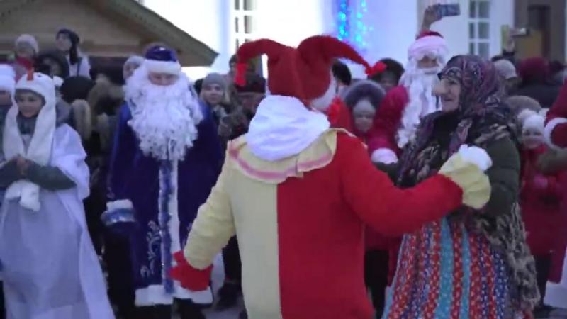 Парад Дедов Морозов в Ульяновске 16.12.2017