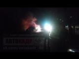 Клыкова 26 пожар, горит лансер 9