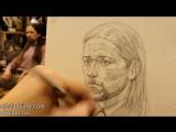 Обучение рисунку. Портрет. 11 серия . Построение и легкая светотень