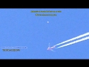 UFO close to chemtrails plane in Los Angeles Ca,▬OVNI cerca avión en Los Angeles Ca eDIT 12_06_2015