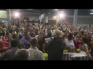President Trump Shoots Paper Towels into Crowd of Puerto Ricans 🏀