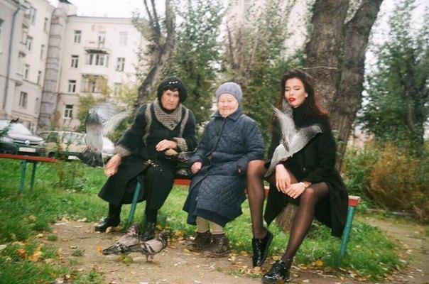 Когда вышел за хлебом у себя на районе)