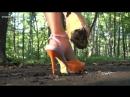 Crush snail Courney orange violet sandals in park