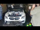 BMW M6 c 6-роторным двигателем диностенд