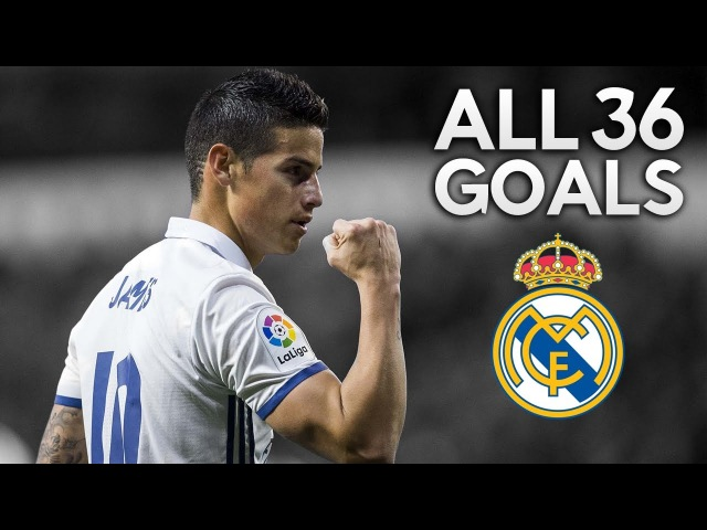 James Rodríguez ● All 36 Goals for Real Madrid ● 2014-2017