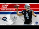 Derek Carr Puts Together 2 TDs & 253 Yards vs. Denver! | Broncos vs. Raiders | Wk 12 Player HLs