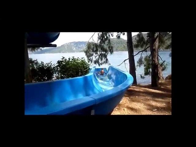 Обзор Мармарис парк отель. Набережная, пляж, водная горка. Marmaris Park Hotel