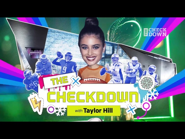 Super Bowl Week Like Youve Never Seen with Supermodel Taylor Hill | The Checkdown | NFL Network