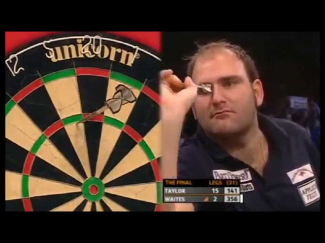 Taylor misses 9 darter for the match - GSOD 2009
