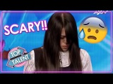 TERRIFYING TALENT! Freaky Magician GIRL Scares Judges &amp Audience On Asia's Got Talent!