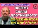 Анатолий Вассерман: Плотницкий - крупный кадровый просчет, его контролировали о