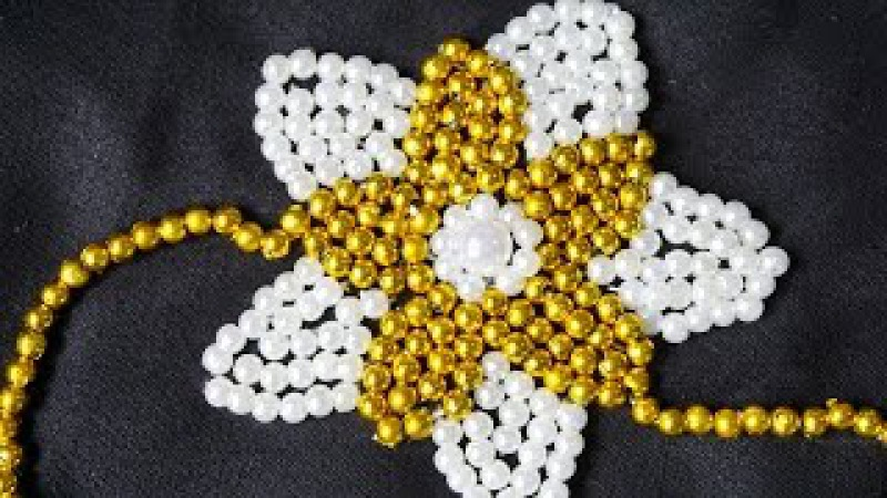 Embroidery Beads Flower by Hand | DIY Stitching Ideas | HandiWorks112