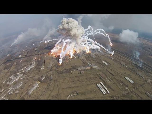 Multiexplosionen in Balakleja. 150.000 Tonnen Munition, Raketen brennen immer noch.