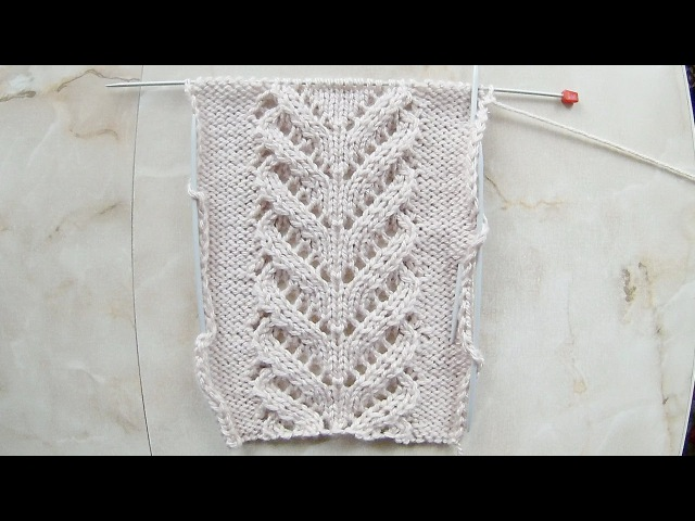 Ажурная Коса- Красавица Вязание спицами Видеоурок 139