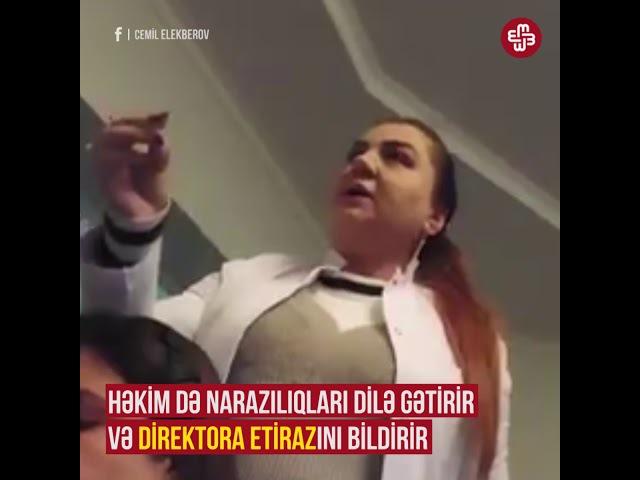 Həkimdən direktora etiraz: ''Burda həkimlərə torba tikməklə məşgulsuz''.