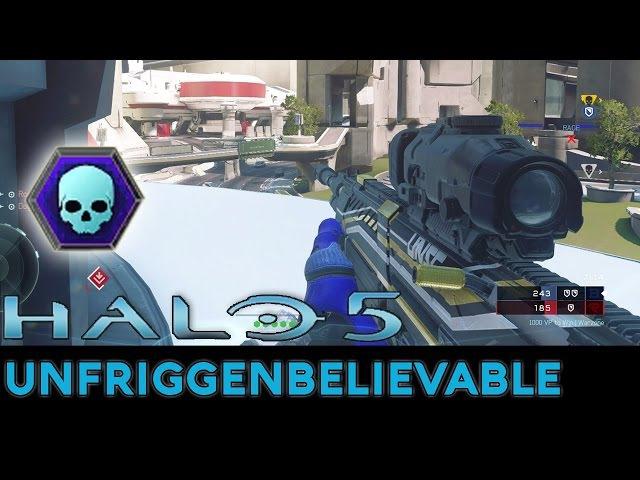 Halo 5: Guardians - 53-0 Unfriggenbelievable Warzone Gameplay with Pistol/BR/DMR/Sniper