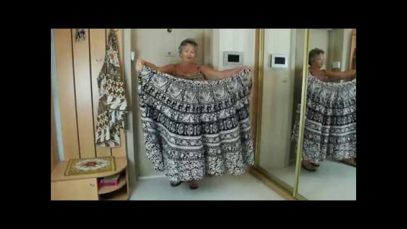 Как сшить летний сарафан из юбки за 5 мин