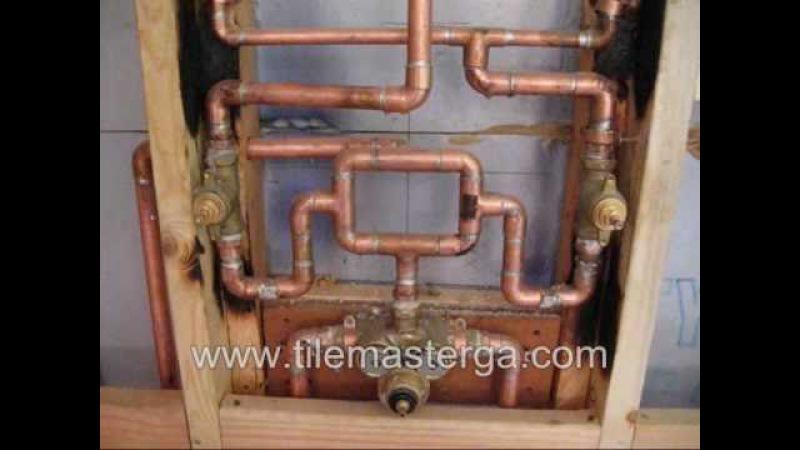 How to: KOHLER custom shower system setup - pressure loop plumbing conections Atlanta tile