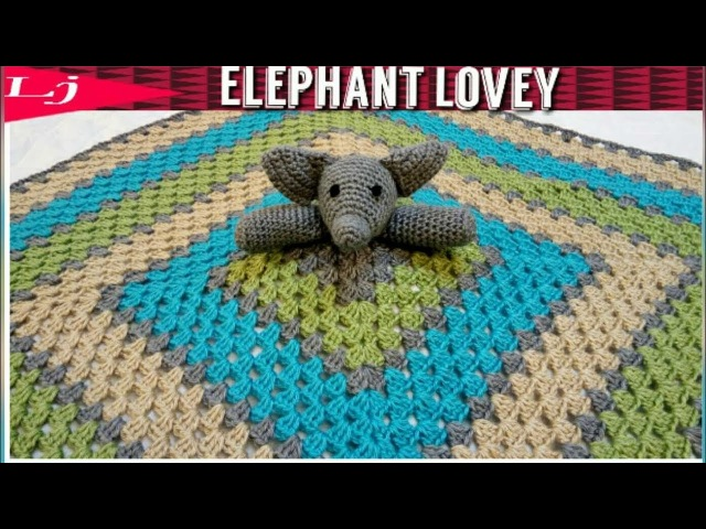 Crochet Elephant Lovey Blanket