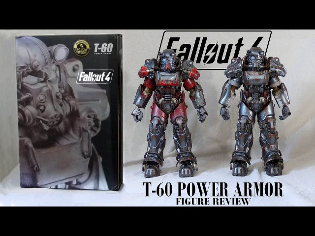 Fallout T-60 power armor figures by Threezero - Exclusive Atom Cats regular - Unboxing Review