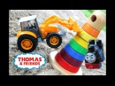 Вредный Трактор Рома украл гигантскую Пирамиду в песочнице у Паровозика Томаса