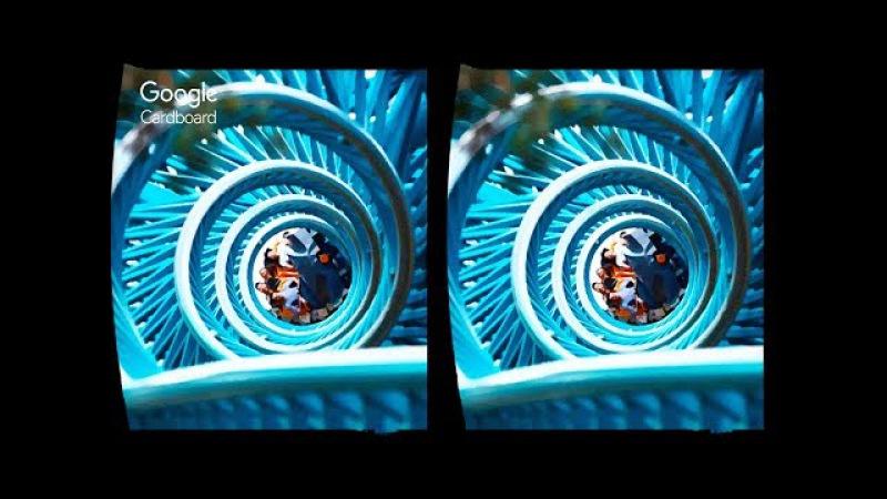 3D ROLLER COASTER - TOP15 VR   3D Side By Side SBS Google Cardboard VR Box Gear Oculus Rift