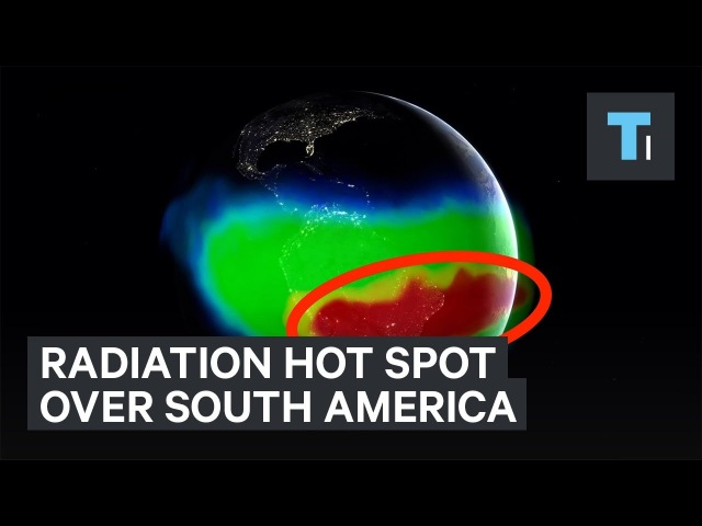 Radiation hot spot over South America with no satellites