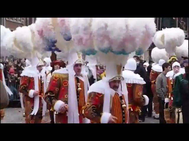 Второй по величине карнавал в европе . Бельгия г. Бинш