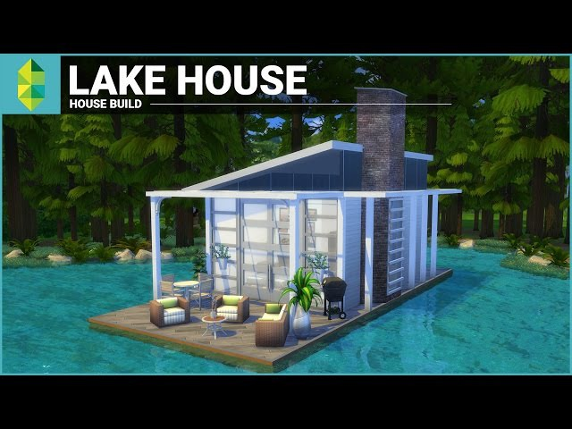 The Sims 4 House Building - Lake House (Tiny 4x6 Grid)