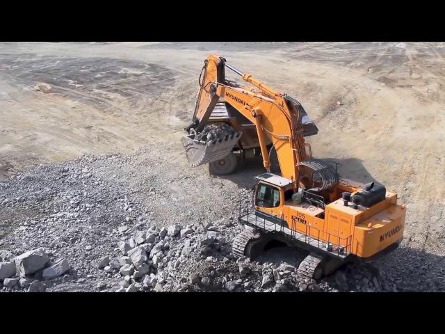 Hyundai R1200-9 - гусеничный карьерный экскаватор (Crawler Excavator)