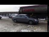 Последствия ДТП с десятком машин на КАД показали на видео