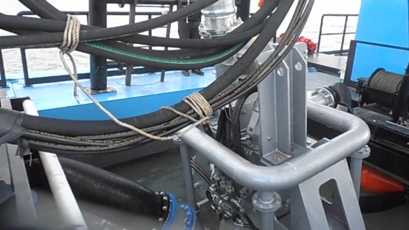 DRAGFLOW reel for oil hoses with hydraulic driven for DRH300