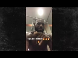 LEBRON JAMES NEW BIZARRE SHIRTLESS WORKOUT ... Rapping to Meek Mill