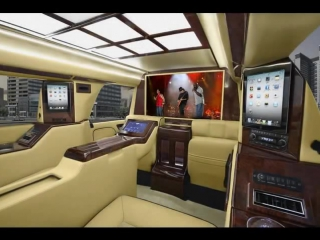"""2012 Cadillac Escalade ESV CEO with 4.5"""" Raised Roof Limousine Limo by Quality Coachworks"""